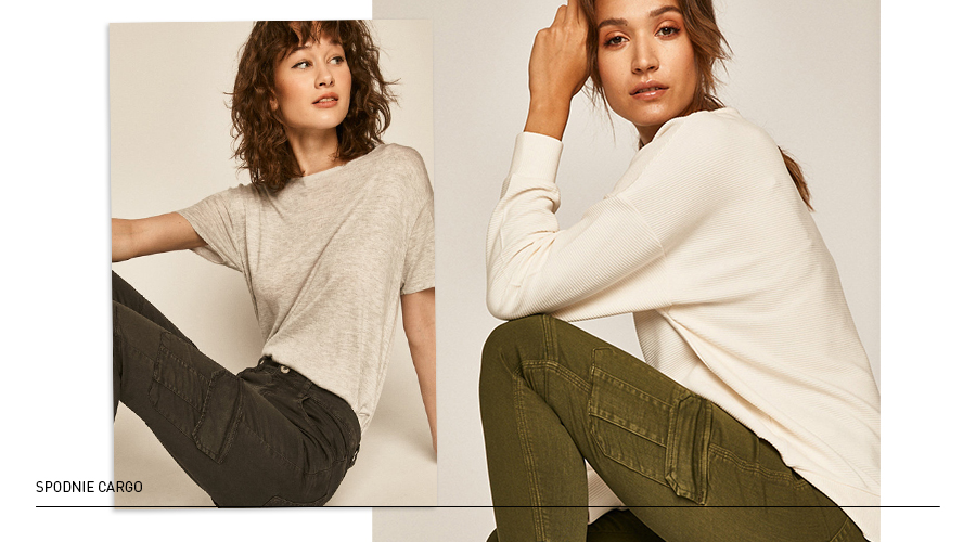spodnie cargo damskie
