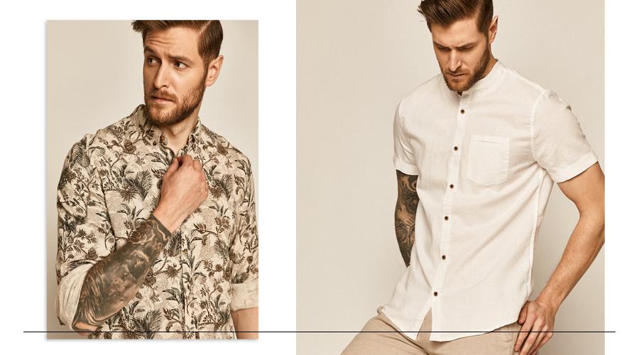 lniana koszula męska